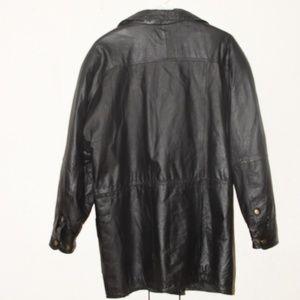Vintage LEARSI Black Leather Jacket
